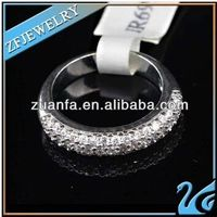 good quality 925 sterling silver ring with white color cz