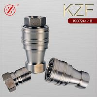 ISO 7241-B stainless steel hydraulic quick coupling