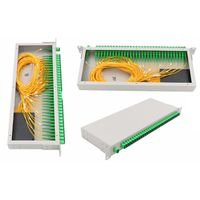 """PON network 19"""" rack mount sc apc 1x32 plc splitter equipped with optical adapter thumbnail image"""