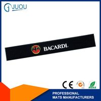 Eco-friendly PVC rubber bar mats with logos