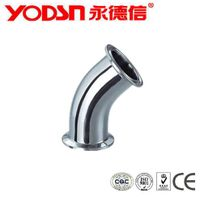 SS304 SS316 Sanitary Stainless steel Food Grade 45 deg elbow