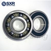 China Brand SXR Chrome Steel Gcr15 Black Edges Black Corners Deep Groove Ball Bearing 6305 2RS thumbnail image
