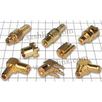 High value Pure brass MMCX Female Jack Plug to MMCX Female Jack Plug Coaxial Adapter Connector