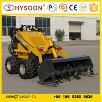 mini skid steer loader with tiller