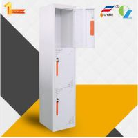 Modern and strong shelf support 3 door metal locker suppliers from China thumbnail image