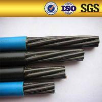 HDPE coated greased and unbonded 15.2mm pc strands steel wire strand