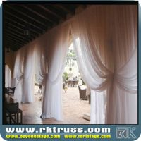 Amazing curve pipe and drape Pipe and Drape Kits with White Drape for events/wedding/exhibition manu