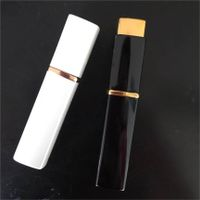 latest design square shpe aluminum perfume atomizer 10ml twist up bottle white colour