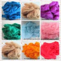 Dyed recycled polyester staple fiber(PSF)colored,virgin,regenerated thumbnail image