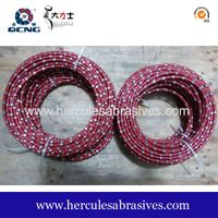 8.8 mm plastic diamond wire saw for granite profiling