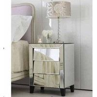 Glass Venetian Mirrored Furniture, Side Table, Bedside Table, Console thumbnail image