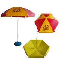 large format vinyl cafe umbrella with full color logo print thumbnail image
