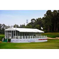 Outdoor Event Tent equipped with Glass Wall