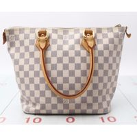 Used designer Handbag LOUIS VUITTON N51186 Damier Azur Saleya Tote bags for bulk sale.