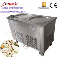 Ice Frying Machine with Round Pan