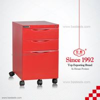 HDT-03E steel movable pedestal/metal movable filing cabinet