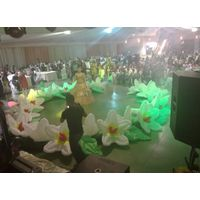 10m Inflatable Wedding Flower Chain for Wedding decoration