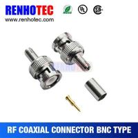 Fast Speed Crimp BNC PLUG Connector For Cable RG316