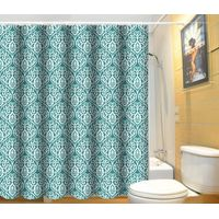 Anti-bacterial flat screen printing polyester bath curtain