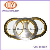 Schwing concrete pump spare parts spectacle plate DN200