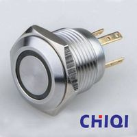 stainless steel push button switch with led light