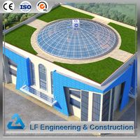 Hollow laminated tempered glass dome glass roof