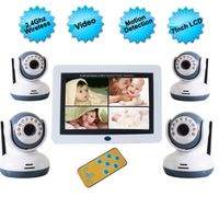 7 inch Digital Wireless Baby Monitor with 4 Camera,1/4 CMOS