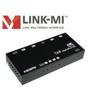 LINK-MI Factory provide HDMI Splitter 1x4 HDMI Splitter 1.4v 4 port HDMI Splitter support HDCP 1080p