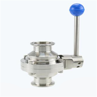Stainless Steel Sanitary Clamp Butterfly Type Ball Valve thumbnail image