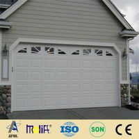steel roller-up garage door