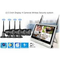 12.5 inch Disdplay 4 camera Wireless Security system New design IP66 waterproof camera