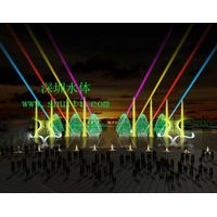 Lake Music Water Laser Fountain, Large Water Dancing Fountain