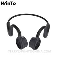 Bluetooth Wireless Bone Conduction Headphone Sport Headset Running Music Earphone
