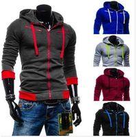 Fashion men casual hoodies mens cardigan with a hood sweatshirt outerwear thumbnail image