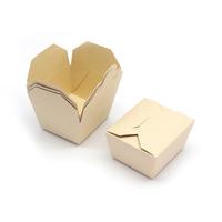 Durable Disposable Paper Kraft Box Compostable Folding Box for Takeout Food