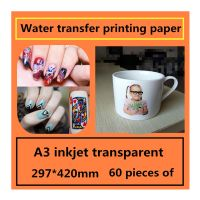 A3 inkjet transparent ceramic tile water transfer printing paper following from decorative stickers