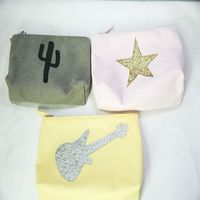 wholesale glitter pvc canvas cosmetic bag