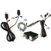 Remote Control IR Repeater/ IR Extender with 1 Receiver & 4 Emitters ( for 4 AV Devices ) & USB 5V a