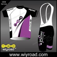 Accept sample order short sleeve bike wear/bicycle bib and jersey/team bike jersey design