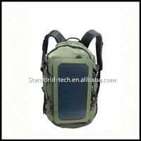 Nylon Material Solar Power Backpack with Strong Power Bank Charger 10000mAh Solar panel thumbnail image