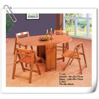 rubber wood fold table (T-112) thumbnail image