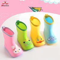 Super Cute Kids PVC Animal Cartoon Rain Boots Rainboots
