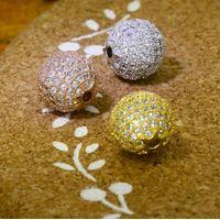 CZ Pave Beads Charm 10 mm thumbnail image
