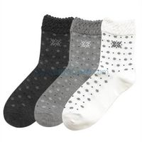 Fashion Patterned Women Socks lace cuff