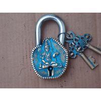 Designer Pad Lock of Lord Shiva figure Art made by Aakrati