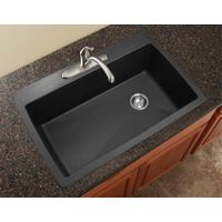 Epoxy resin one piece kitchen sink and countertop