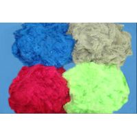 Colored polyester staple fiber