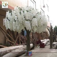 UVG WIS002 13ft Big plastic artificial wisteria blossom tree with white silk flowers for weddings