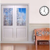 HONMAX double main entry glass insert door for interior wood door