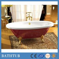 red clawfoot acrylic free standing bathtubs for distributors